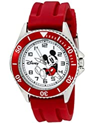 Disney Mens W002392 Mickey Mouse Watch with Red Band