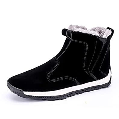6a9276dd8 SUADEEX Snow Boots Mens Womens Winter Warm Ankle Booties Faux Fur Lined Anti -Slip Shoes Waterproof Walking Hiking Sneakers Outdoor Sport Boots: ...