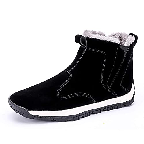 6d6bfddbea714 MARITONY Waterproof Winter Snow Boots for Men, Outdoor Warm Anti-Skid Ankle  Sneakers, High Top Fur Lined Lightweight Shoes