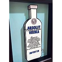 Absolut Vodka 3D Pop Art Bart Artwork Kitchen Art for the Home