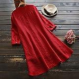 Womens Henley Long Sleeve T Shirt Dress Plus Size
