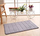 Memory Foam Bath Mat, 32'' x 20'' Non-Slip, Incredibly Soft and Absorbent Bath Rug, Gery