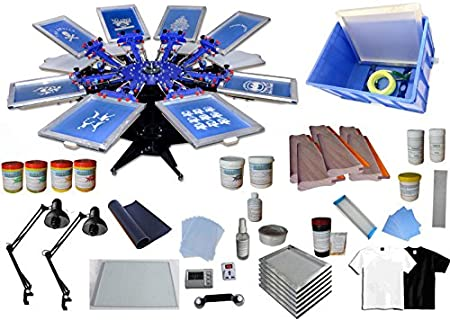 Techtongda - Kit de impresión de pantalla de 8 colores para serigrafía de seda: Amazon.es: Hogar