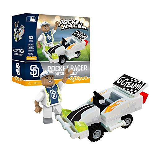 San Diego Padres OYO Sports Toys Pocket Racer Set with Minifigure 53PCS ()