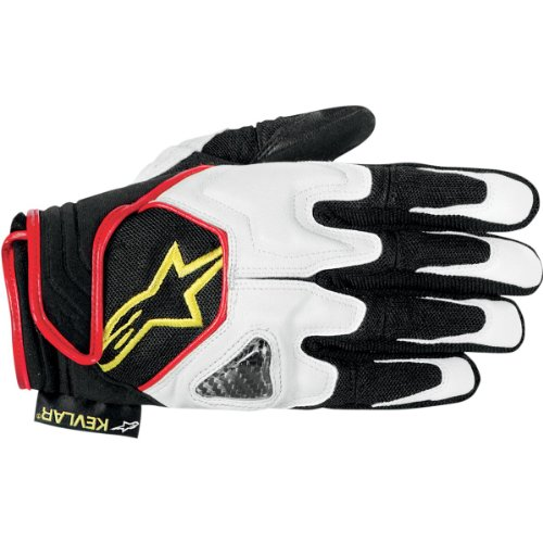 Alpinestars Scheme Kevlar Gloves - 3X-Large/Black/White/Yellow Alpinestars Scheme Kevlar Gloves