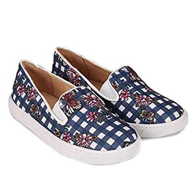 Slip On Infantil Shoestock Estampado Feminino - Marinho - 25