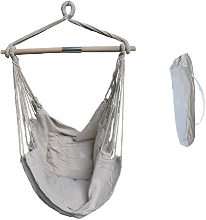 HOT Outdoor Indoor Hammock Hanging Rope Chair Porch Swing Seat Camping Portable