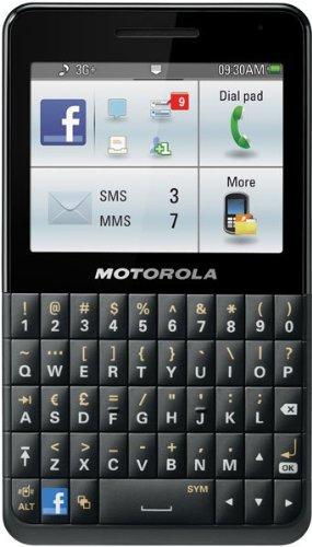Motorola MOTOKEY Social EX225 Unlocked GSM Phone with 3.15MP Camera, Full QWERTY Keyboard,