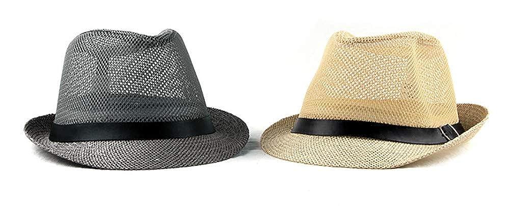 RICHTOER Femmes Hommes Plage Respirant Soleil Jazz Casquette Simple Chapeau De Vacances D/ét/é