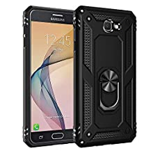 BestST Funda Samsung Galaxy J7 Prime /On7 2016 Armor Carcasa con 360 Anillo iman Soporte Hard PC y Silicona TPU Bumper antigolpes Fundas Carcasas Case para movil J7 Prime /On7 2016