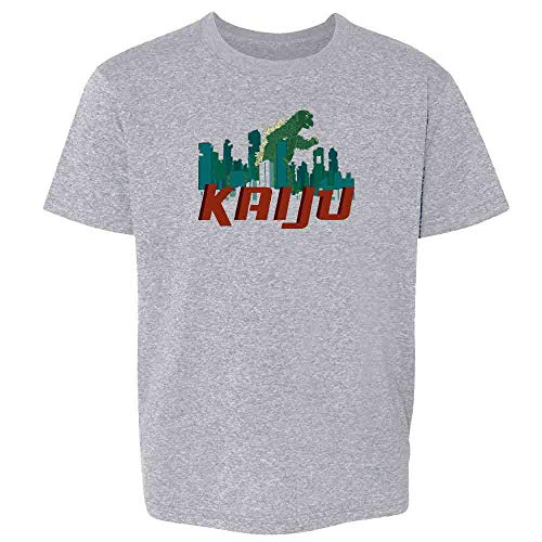Attack Youth T-shirt - Pop Threads Kaiju Destroying The City Sport Grey XS Youth Kids T-Shirt