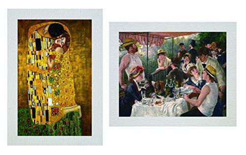 "YMEI-ART-The Kiss, by Gustav Klimt. Giclee printed on canvas 20""X28"""