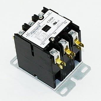 packard c340a 3 pole 40 amp contactor 24 volt coil contactor motor