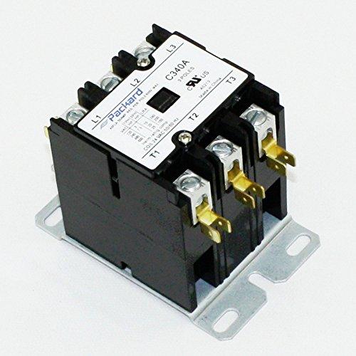 Packard C340A 3 Pole 40 Amp Contactor 24 Volt Coil (3 Pole Motor)