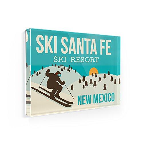 Fridge Magnet Ski Santa Fe Ski Resort - New Mexico Ski Resort - NEONBLOND