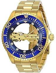 Invicta 24695 Mens Pro Diver Ghost Bridge Blue & Gold Transparent Dial Yellow Gold Bracelet Watch