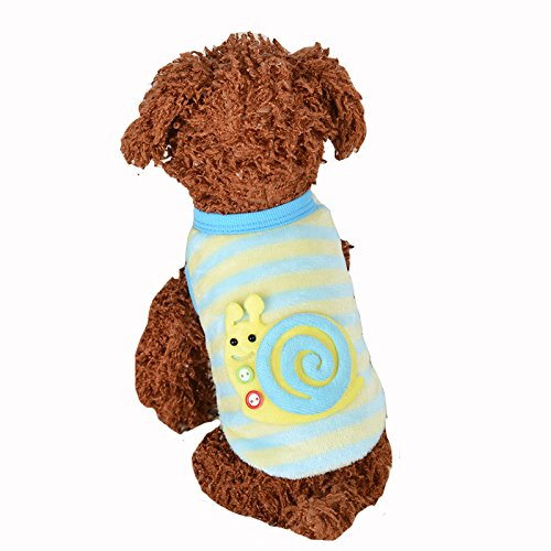 Pictures of MD New Cute Baby Pet Clothes Teacup Blue stripe XXXS 1