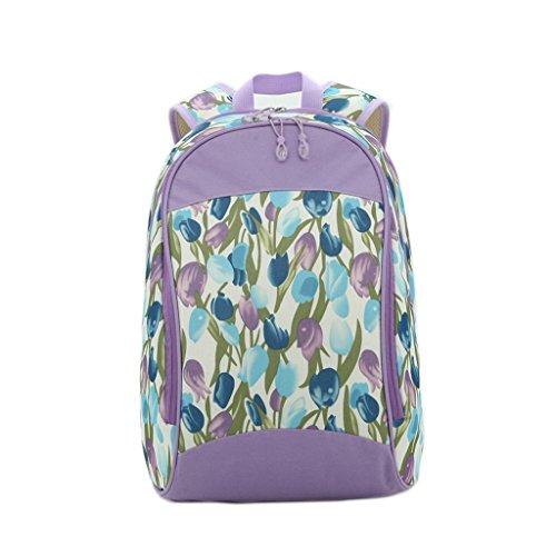 LCY–Mochila bolsa de pañales de bebé Purple Flowers Purple Flowers