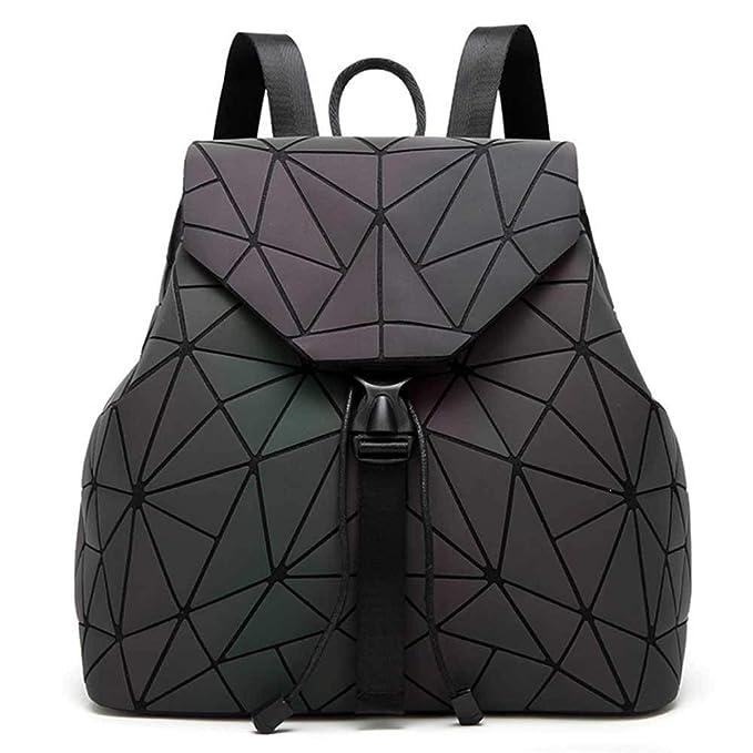 DIOMO Geometric Lingge Women Backpack Luminous Mens Travel Shoulder Bag Rucksack (Luminous NO.3)