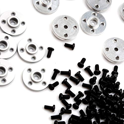 Aluminum Round - 10x Aluminum Metal Mg995 Mg996 Futaba Ace Robot 25t Servo Arm Round Type Disc Matal Horns - Vital Screws Power Precision Unit Micro Hydraulic Cellphone V8240 Standard Arrma K