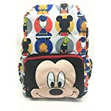 """Backpack - Disney - Mickey Mouse Face All-Print 16"""" School Bag New 124632-2"""