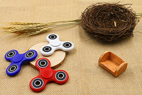 Fidget Spinner Toys Hand Spinner Best Stress Reducer Boredom Ceramic Bearing Anti Anxiety ADD, ADHD, Autism Adult Children Kids 360 Spinner Helps Focusing Fidget Toys [3D Figit] EDC Focus Toy