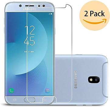 Ecoye Samsung Galaxy J7 2017/J7 DUOS Protector de Pantalla [2 Pack] 9H Dureza Vidrio Templado Cristal Templado Film 9H Anti-Rasguños HD Transparente para Samsung Galaxy J7 2017.: Amazon.es: Electrónica