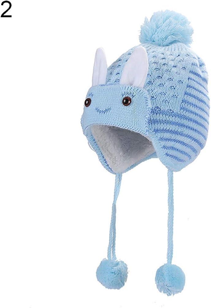 Oce180anYLV Baby Infant Kinder Jungen M/ädchen Winter Strickball Kaninchen Ohr Beanie Warme M/ütze