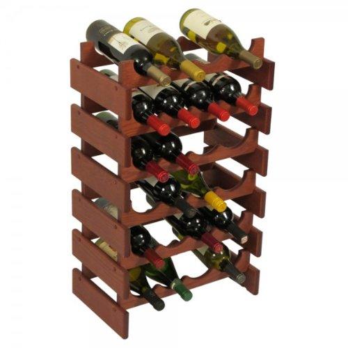 SKB family 24 Bottle Dakota Wine Storage Rack, 17.625'' x 28.375'' x 10.75'' x 8 lbs, Unfinished by SKB family (Image #6)