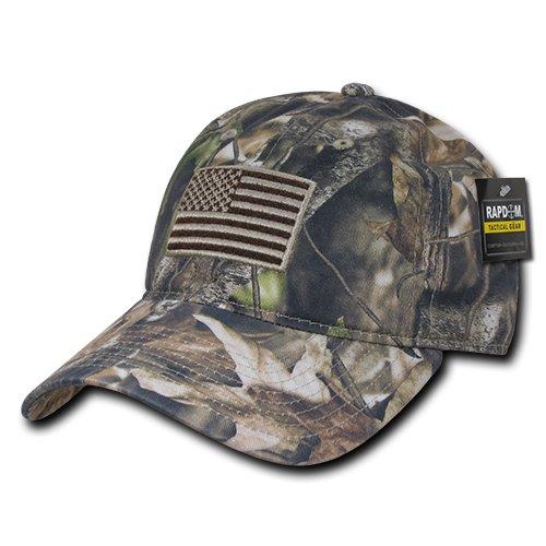 Camo Baseball Style Hats (RapDom Polo Style American Pride Flag Baseball Caps - Hybricam Camo)