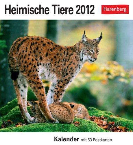 Heimische Tiere 2012. Postkartenkalender: Kalender mit 53 Postkarten
