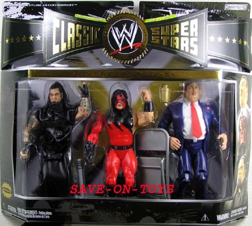 WWE Classic Superstars Undertaker Kane Paul Bearer Wal- Mart 3 pack of Figure by WWE
