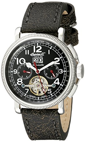 Ingersoll Men's IN1827BKWH Princeton Analog Display Automatic Self Wind Black Watch