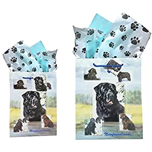 NEWFOUNDLAND (NEWFIE) Gift Bags, Set of Two 1