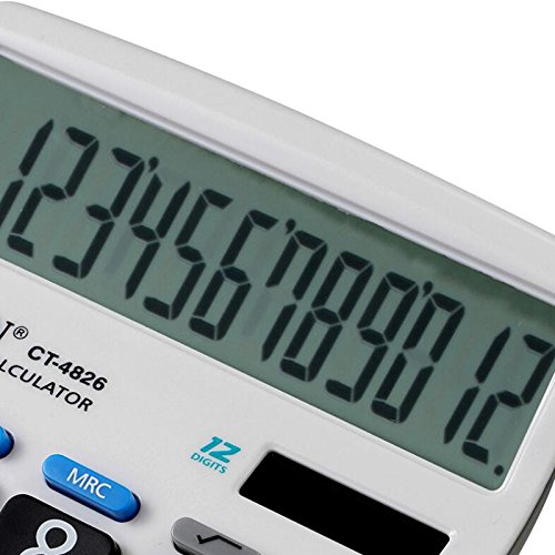 Calculator,12-Digits Solar Battery Button Battery Dual Two Way Power Large Display Standard Office Finacial Desktop Calculators … by e-cholife (Image #1)