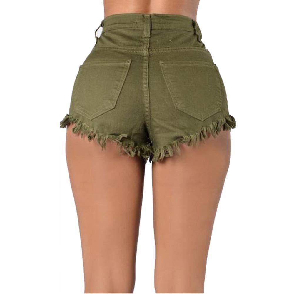Yuqianqian Mujer Pantalones Cortos Vaqueros Básicos ...