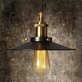 Vintage Industrial Pendant Light with Adjustable Cord Elfeland Ceiling Mounted light 8.8u0027u0027 Diameter & Vintage Industrial Pendant Light with Adjustable Cord Elfeland ...