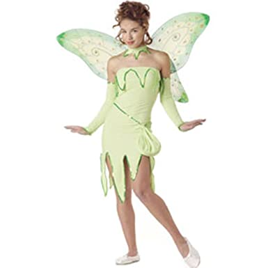 Girlu0027s Teen Tinkerbell Costume (Teen ...  sc 1 st  Amazon.com : tinkerbell costumes for teens  - Germanpascual.Com