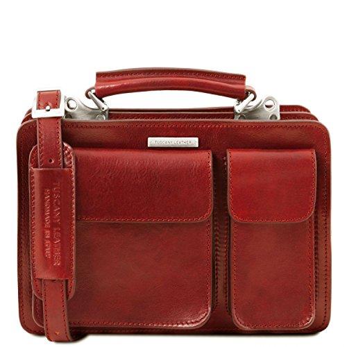 foncé Marron main Tania Sac Leather en Tuscany cuir Rouge à nU0w8UCRq