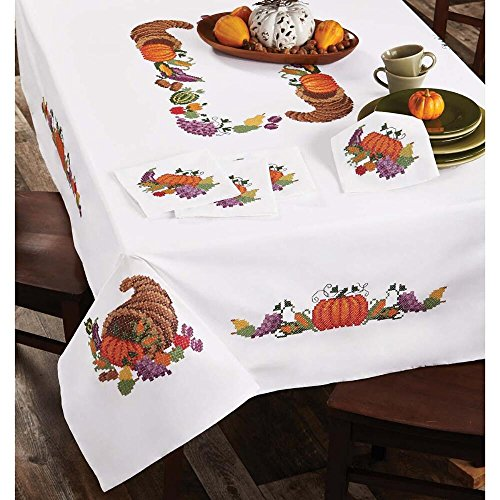 Herrschners® Harvest Bounty Table Linens Stamped Cross-Stitch
