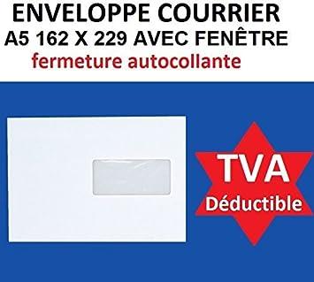 Lot De 500 Enveloppe Courrier A5 Avec Fenêtre C5 Papier Velin