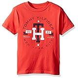 Tommy Hilfiger Big Boys' Hermes Short Sleeve Tee, Hibiscus Tea, Medium (12/14)