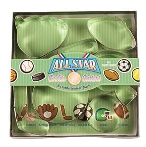 Fox Run All Star Sports Cookie Cutter Set