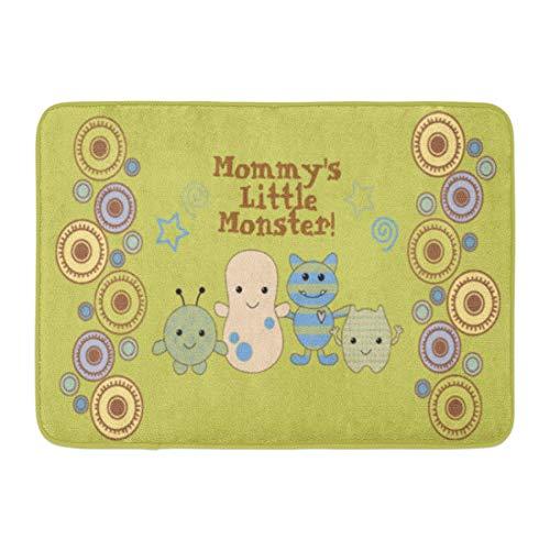 (Bath Mat Cocalo Little Monsters Nursery Peek Boo Baby Peeking Bathroom Decor Rug )