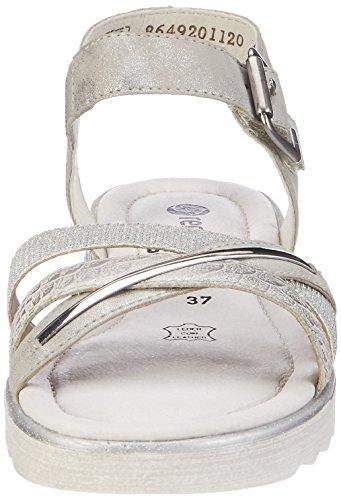 Remonte Damen D1151 Knöchelriemchen Silber (ice/silber/Silber / 90)