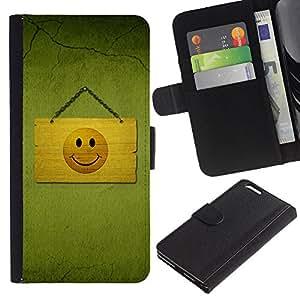 UNIQCASE - Apple Iphone 6 PLUS 5.5 - Hapy Smiley Area - Cuero PU Delgado caso cubierta Shell Armor Funda Case Cover