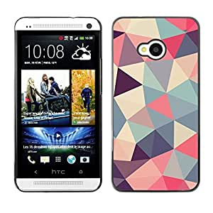 LOVE FOR HTC One M7 Polygon Triangle Pattern Poly Art Pattern Personalized Design Custom DIY Case Cover