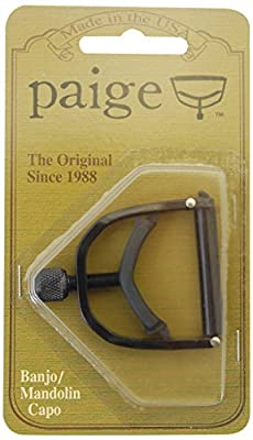 PAIGE.. Banjo/Mandolin Capo-fits up to the 4th Fret on a 5-string-black