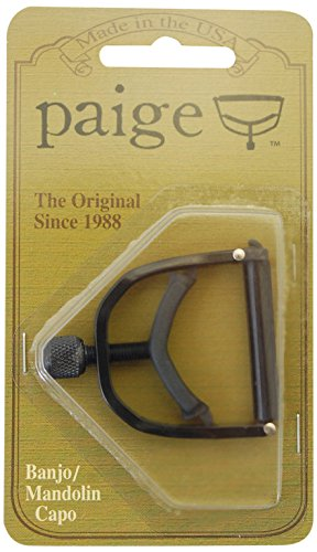 - Paige Banjo/Mandolin Capo-fits up to the 4th Fret on a 5-string-black