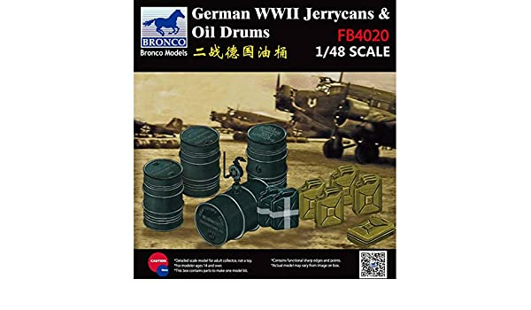 Bronco FB4020 1//48 WWII German Jerry Can /& Fuel Drums